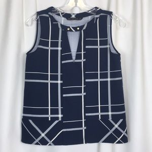 Zara Basic, geometric print, top, XS, NWOT.